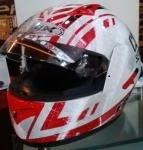 Helm INK CL 1 Matrix Putih Merah