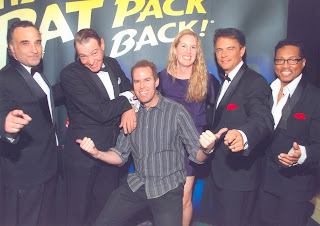 Noah and Anna with the Rat Pack