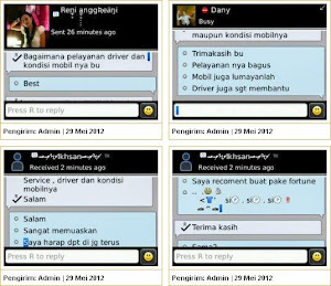 Testimonial Rental Mobil Surabaya di BBM: