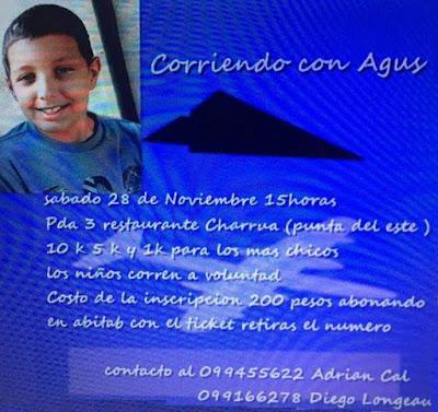 10k - 5k - 1k Corriendo con Agus (Punta del Este, sáb 28/nov/2015)