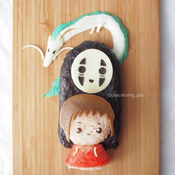 06-Spirited-Away-Onigiri-Lunch-Set-Nawaporn-Pax-Piewpun-aka-Peaceloving-Pax-Food-Art-Inspiration-for-your-Bento-Box