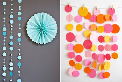 Ma Bicyclette: Rented Home Inspiration   Temporary Home Improvements - Paper Garlands