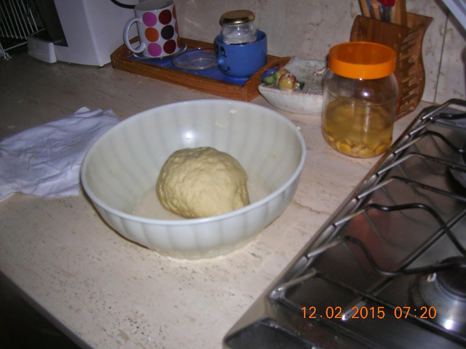 panzerotti  con pomodoro e mozzarella e con prosciutto e  fontina ---  e ricotta fatta in casa..