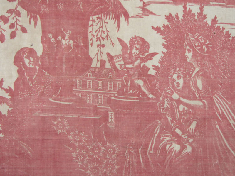 My faux french chateau antique french 18th century red for French toile fabric