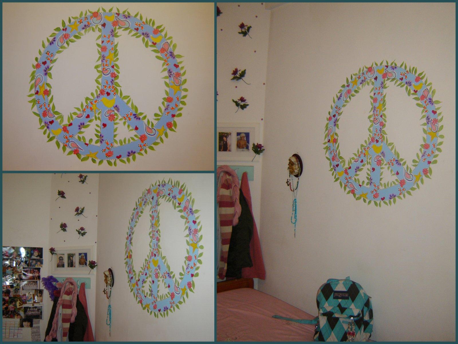 Como en cuentos mural cuarto ni a dise o signo de la paz for Murales diseno de interiores