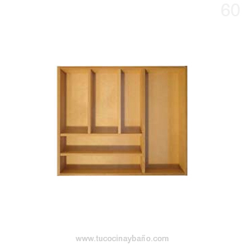 cubertero madera cajon cocina 60