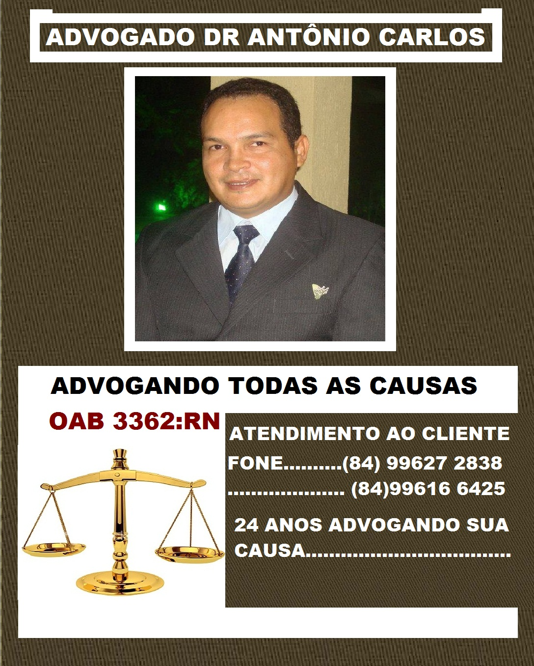 ADVOGADO DR ANTÔNIO CARLOS RN