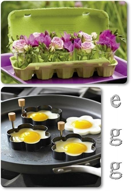 ägg, blommiga ägg