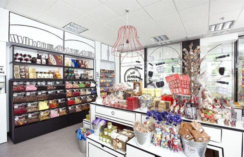 Il dolce negozio di caramelle