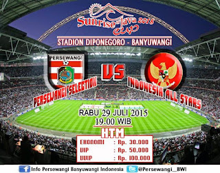 Persewangi Selection vs Indonesia All Stars 2015
