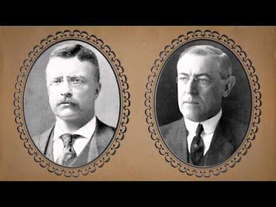 woodrow wilson and theodore roosevelt The colossal figures who shaped the politics of industrial america emerge in full scale in this comparative biography in the depth and sophistication of intellect that they brought to politics and in the titanic conflict they waged, roosevelt and wilson were, like hamilton and jefferson before them, the political architects for an.