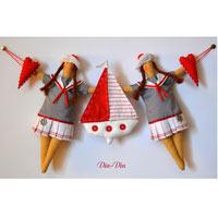 Текстильные куколки, куклы в стиле Тильда