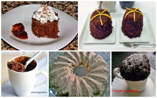 Cinco Pasteles Fáciles para hacer en el Microondas