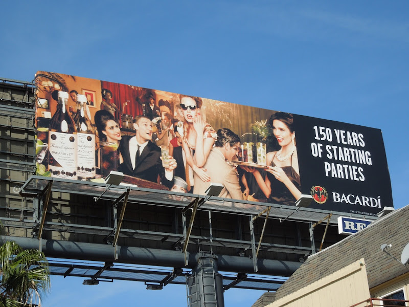 Bacardi starting parties billboard