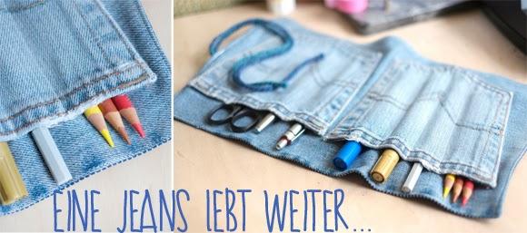 Tasche aus Jeansstoffresten nähen