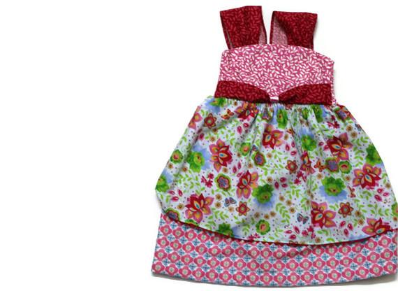 dainty floral dress pattern