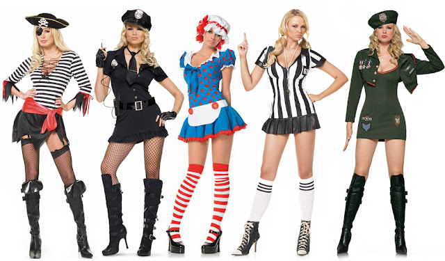 sexy girls in costumes