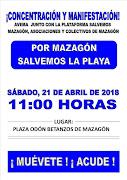 CONCENTRACIÓN Y MANIFESTACIÓN POR EL ESTADO DE LA PLAYA DE MAZAGÓN