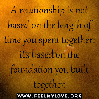 A relationship is not based on the length