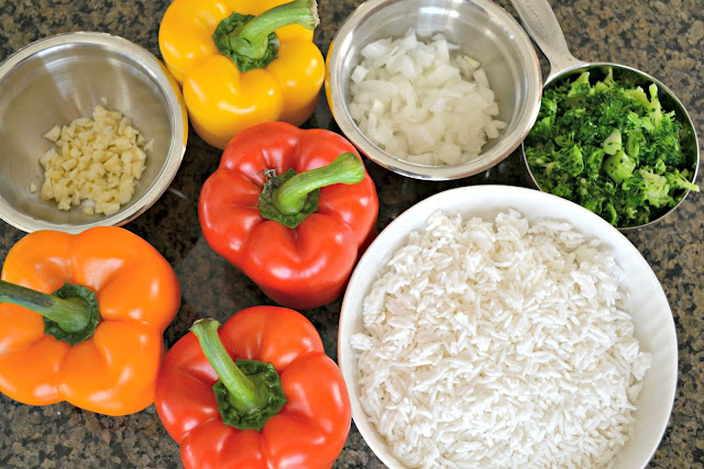 Mommy Testers  healthy stuffed peppers, ground turkey stuffed peppers, easy healthy ground turkey meal