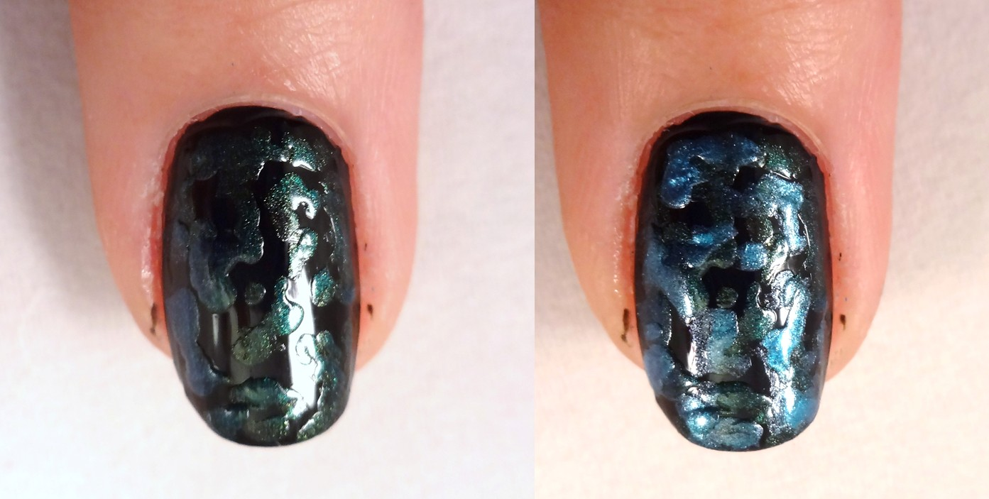 Metallic Splotch Nail