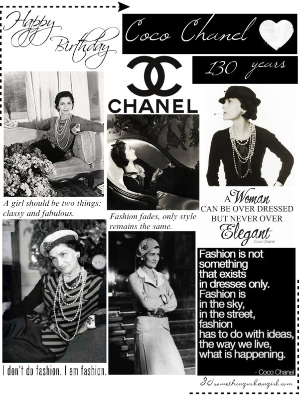 Happy Birthday Coco Chanel, 130 years