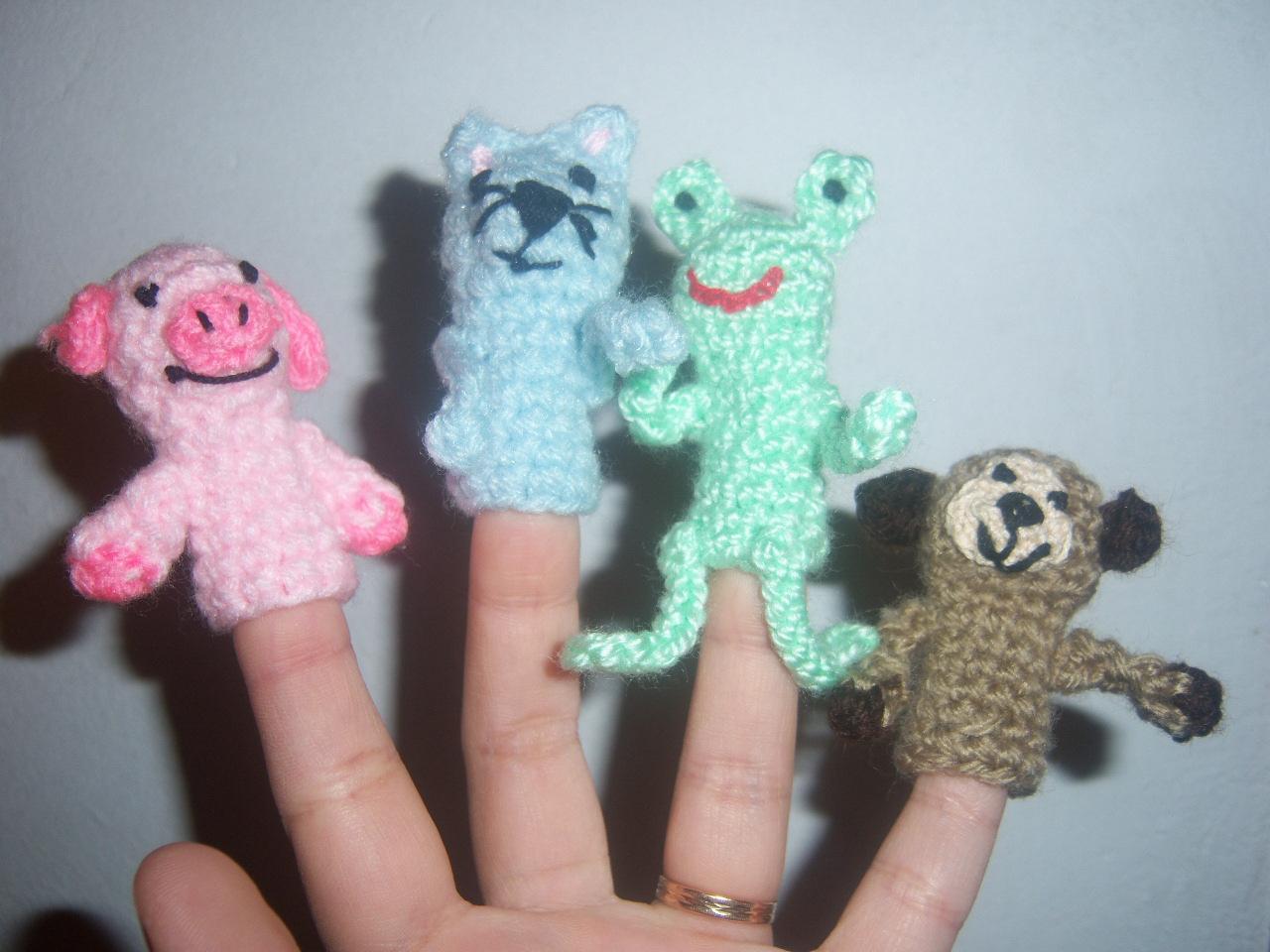 Rume Crochet: Titeres de dedo
