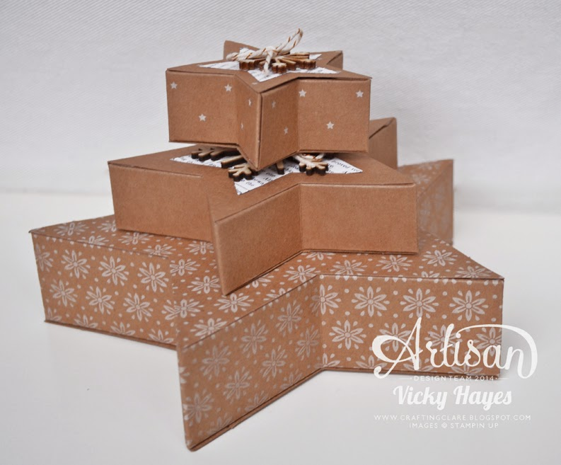 Buy the Stampin' Up Many Merry stars kit to wrap up gifts or to decorate your house this Christmas!