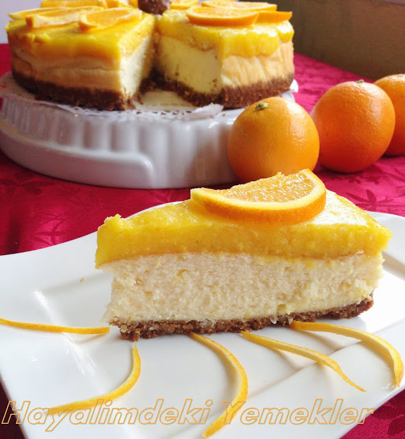 Portakallı Cheesecake ( çizkek) tarifi