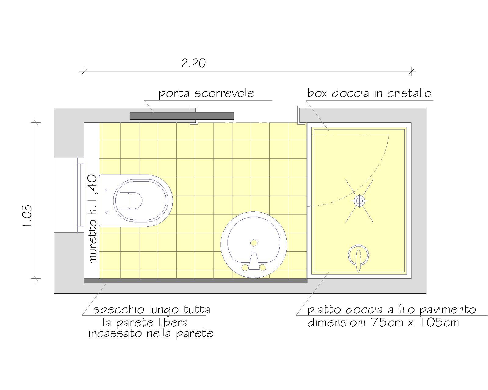 La casa da vivere 8 consigli per realizzare un bagno in piu 39 for 2 piedi quadrati per garage