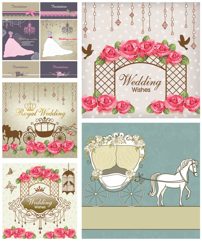 Design your wedding invitations with free download vector graphics ...