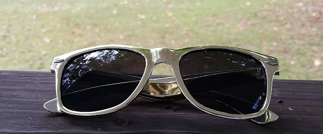 Gold Retro Nerdy Wayfarer Sunglasses