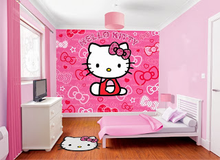 wallpaper kamar anak hello kitty