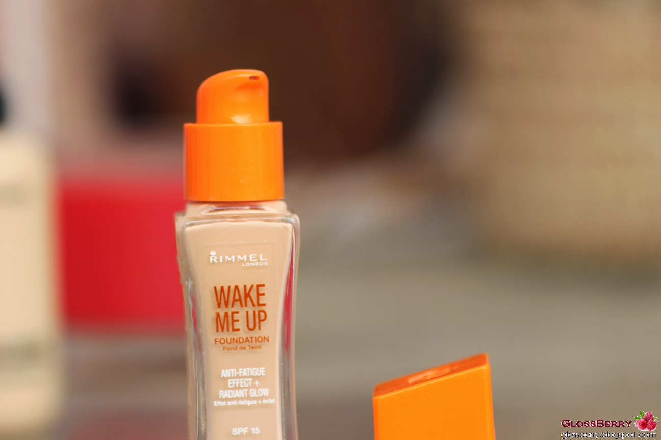 rimmel wake me up foundation מייקאפ רימל פקק כתום סקירה