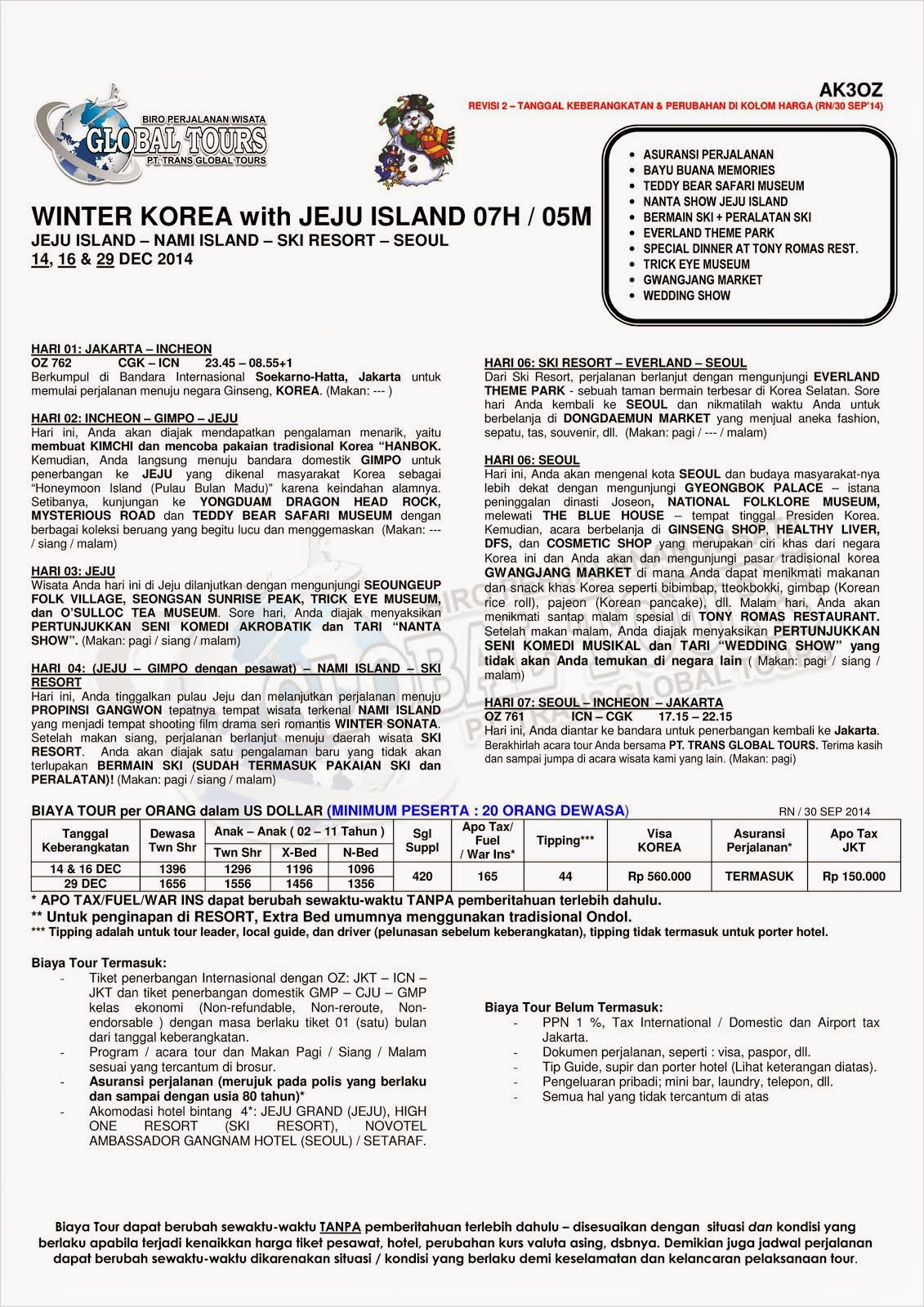 WINTER KOREA WITH JEJU ISLAND
