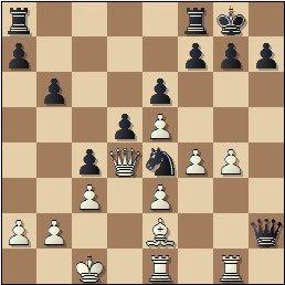 Partida de ajedrez Juncosa vs. Golmayo, Torneo Nacional de Murcia 1927, posición después de 22.Dd4