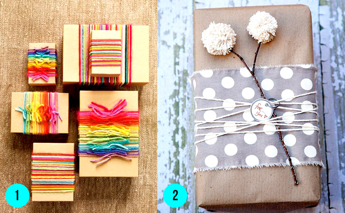 DIY ideas envolver regalos