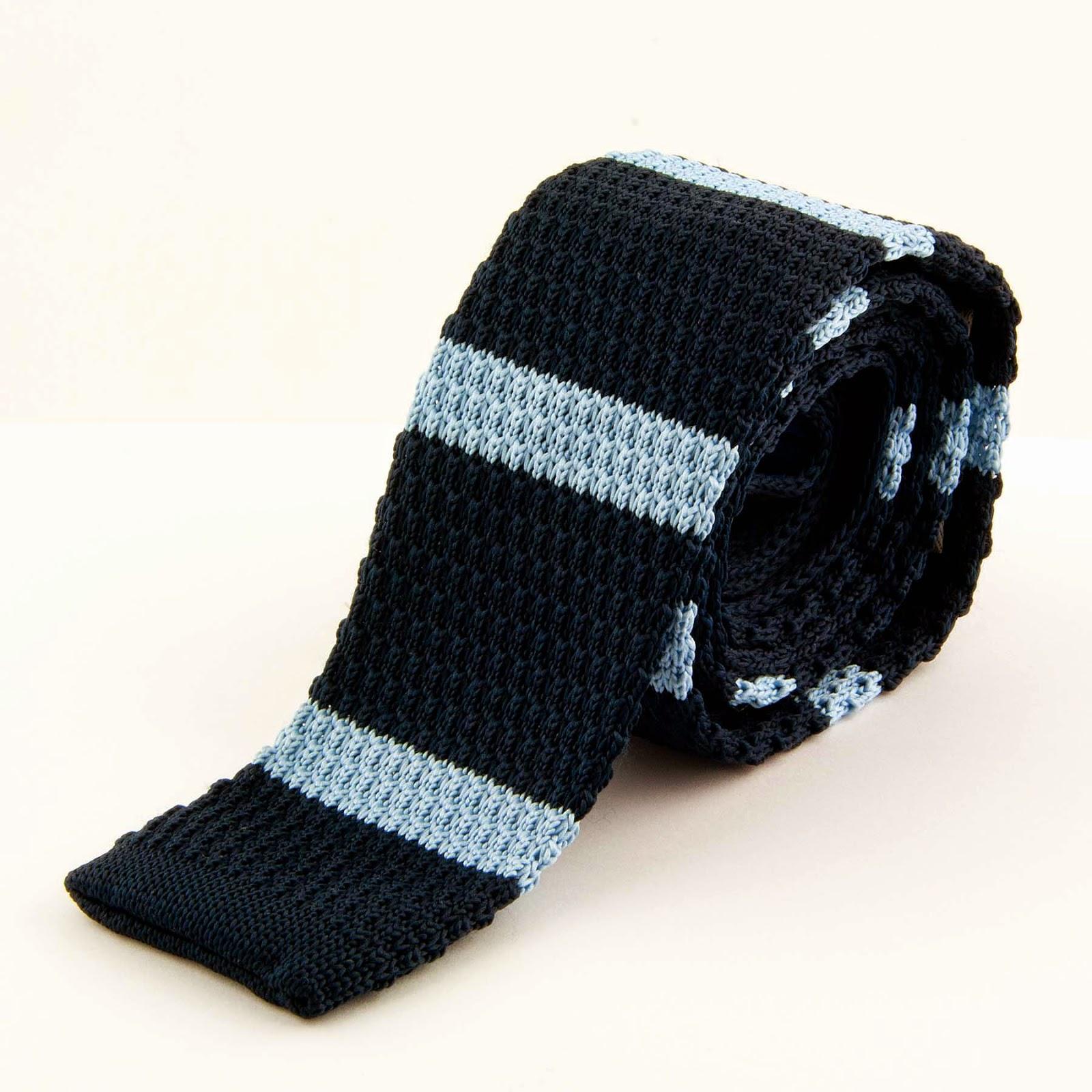 Krawat dziany tkzw. knit