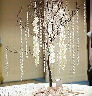 Centros de mesa con ramas y cristales parte 1 - Ramas decoradas ...