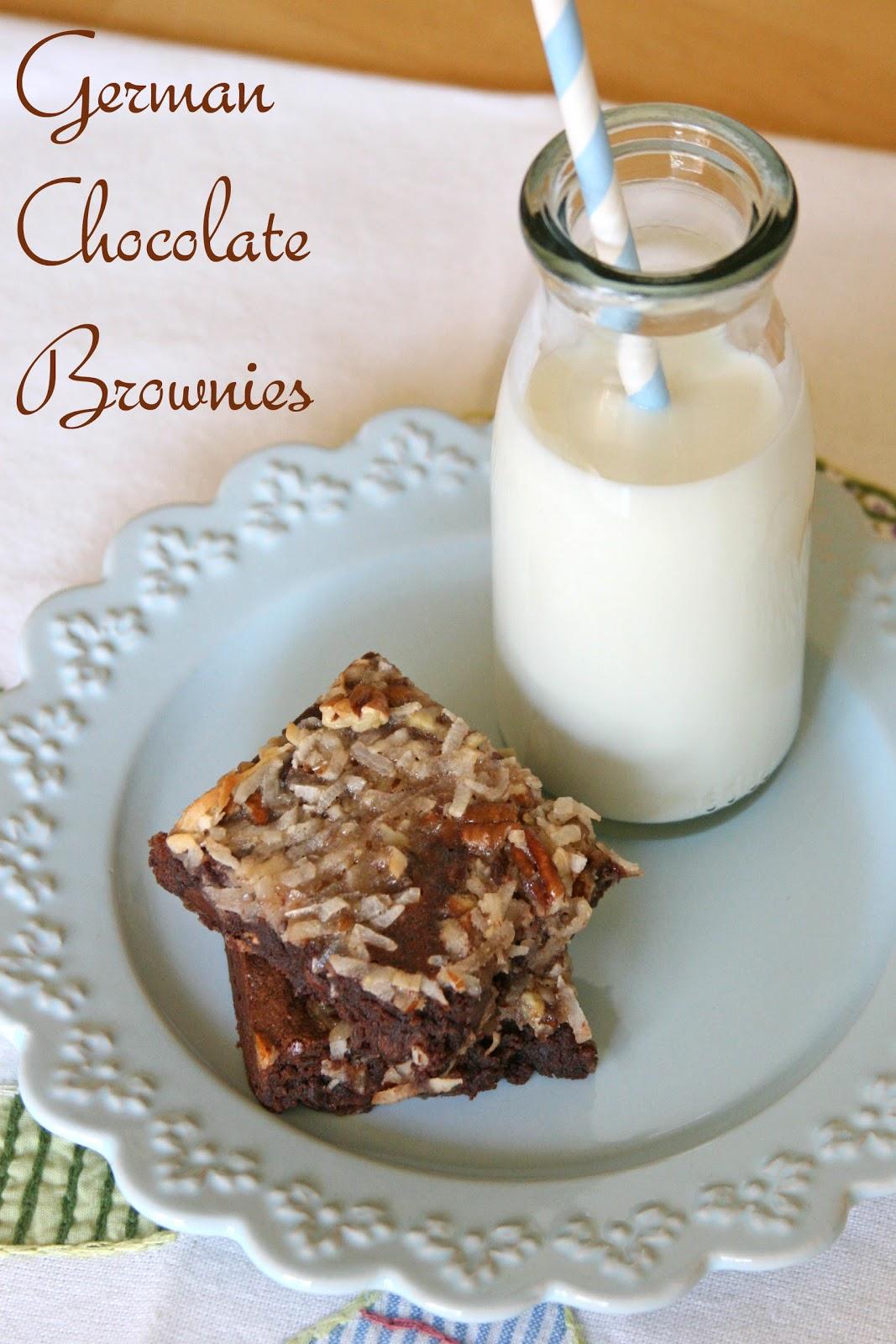 German Chocolate Brownies – Glorious Treats