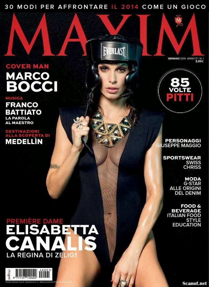 Magazine Photoshoot : Elisabetta Canalis Photoshot For Maxim Magazine Italy January 2014 Issue