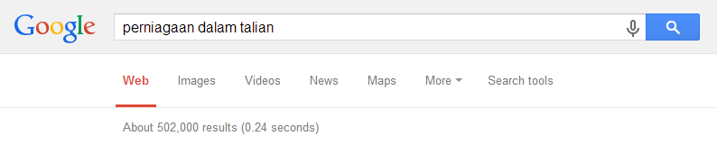 Saya baru tahu ada pesan dari Google pada dashboad blogger Google: Mengapa Tidak Blog Dalam Bahasa Melayu Saja?
