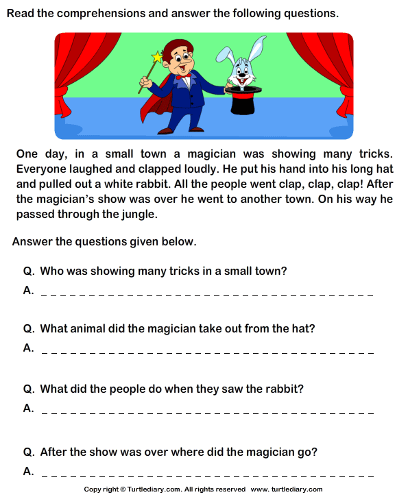 40 reading comprehension stories for remedial reading – Comprehension Worksheets for Grade 5