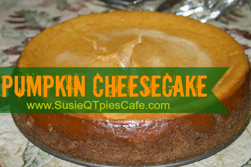 SusieQTpies Cafe: Best Ever Pumpkin Cheesecake recipe *YUM*
