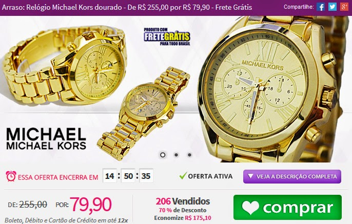 http://tpmdeofertas.com.br/Oferta-Arraso-Relogio-Michael-Kors-dourado---De-R-25500-por-R-7990---Frete-Gratis-748.aspx