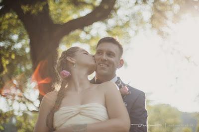 bride and groom kissing, outdoor wedding, north carolina wedding, sunset wedding portraits