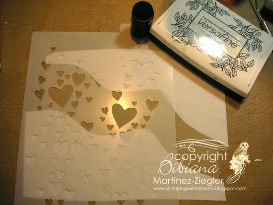 masculine card with stencils step one