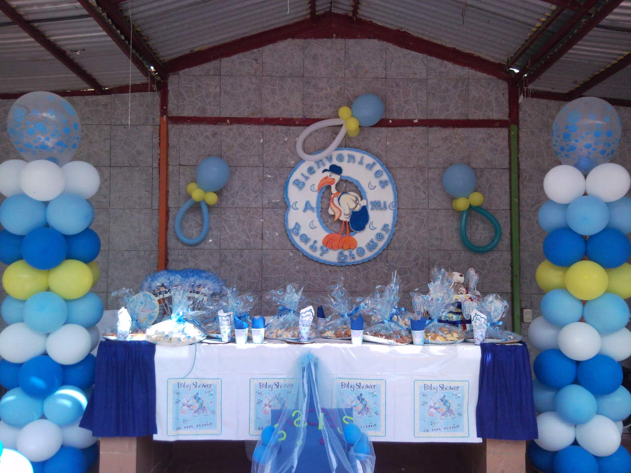 Decoracion con globos para baby shower car interior design for Decoracion con globos