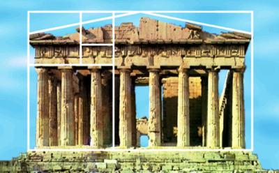 La proporción áurea en el Partenón de Atenas