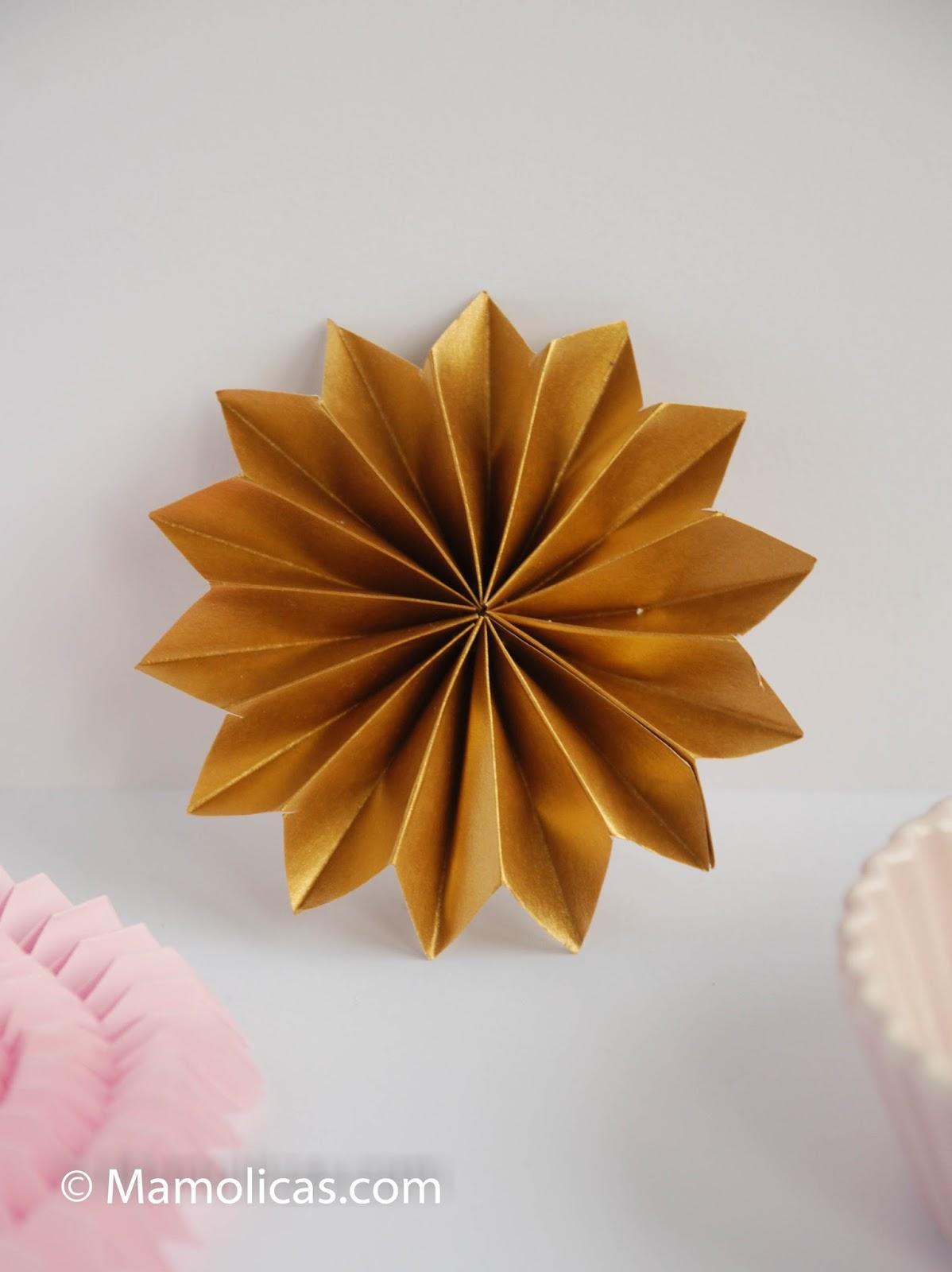 Mamolicas adornos navidad con papel plegado for Adornos navidenos de papel